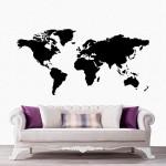 Dünya Haritası 1 Duvar Sticker, Duvar Çıkartması, Çocuk Odası Sticker DP-1672