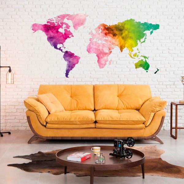 Dünya Haritası 2 Duvar Sticker, Duvar Çıkartması, Çocuk Odası Sticker DP-1673