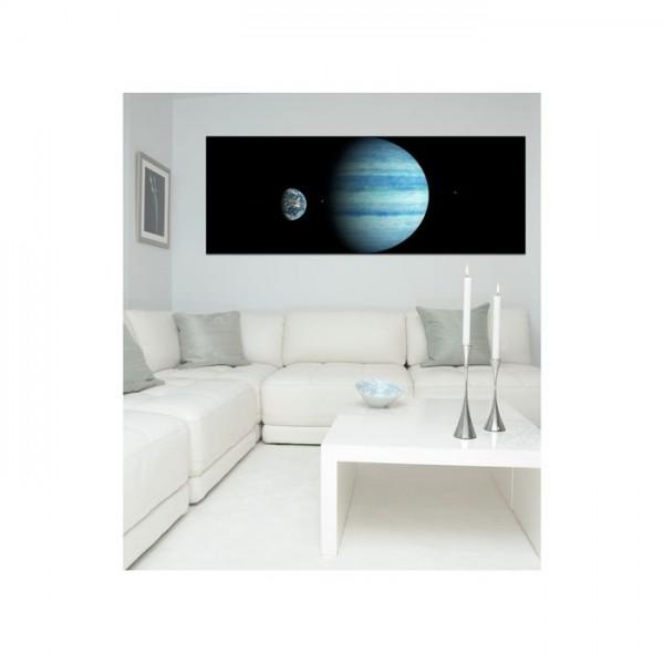 Dünya'ya Karşı 178x65 cm Duvar Resmi