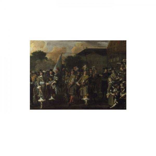 Dutch - A Company of Amsterdam Militiamen 50x70 cm