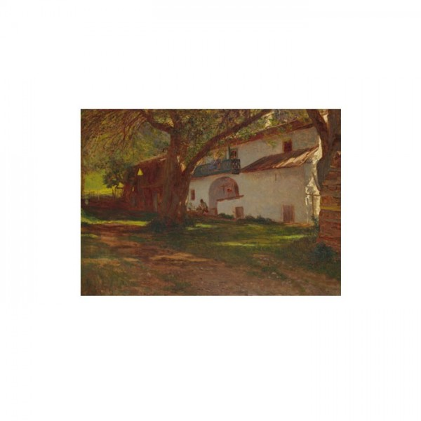 Dutch - A White House among Trees 50x70 cm