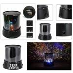 Buffer Star Master Pilli Gökyüzü Projeksiyonlu Led Renkli Yıldızlı Tavan Işık Yansıtma Gece Lambası