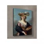 Elizabeth Louise Vigée Le Brun - Self Portrait in a Straw Hat 50x70 cm