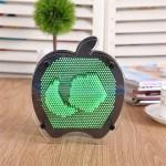 Elma Şeklinde Pin Art Dekoratif 3D Çivi Sanatı Filografi Tahtası