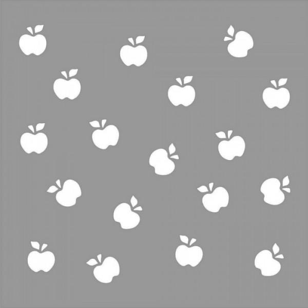 Elmalar Desen Stencil Tasarımı 30 x 30 cm
