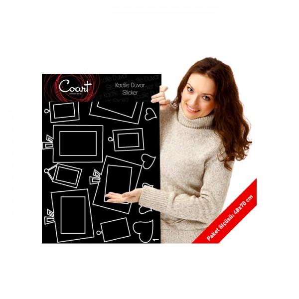 Enjoy Happy Life Kadife Duvar Sticker 94X92 Cm