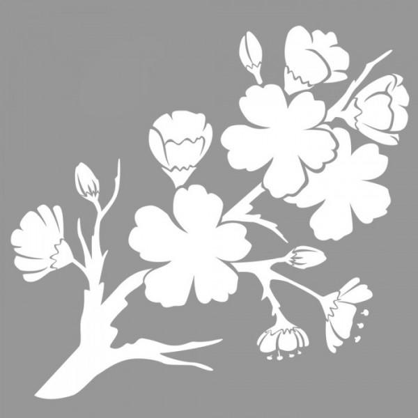 Erik Çiçeği Stencil Tasarımı 30 x 30 cm