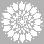 Etnik Karo Stencil Tasarımı 30 x 30 cm