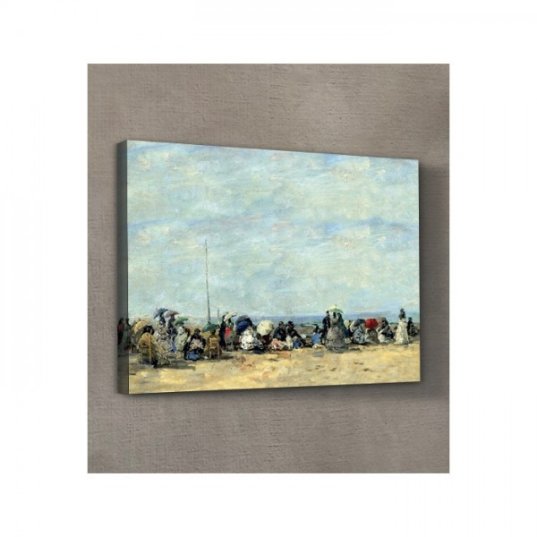 Eugène Boudin - Beach Scene, Trouville 50x70 cm