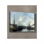 Eugène Boudin - Brussels Harbour 50x70 cm