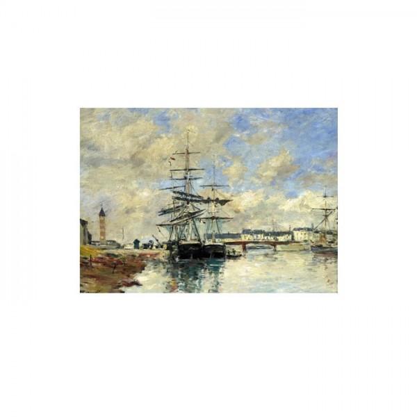 Eugène Boudin - Deauville Harbour 50x70 cm
