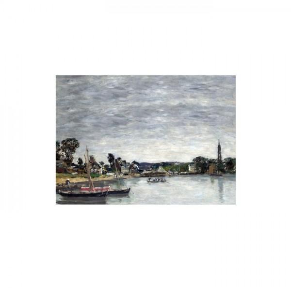 Eugène Boudin - L'Hôpital-Camfrout, Brittany 50x70 cm