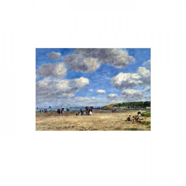 Eugène Boudin - The Beach at Tourgéville Les Sablons 50x70 cm