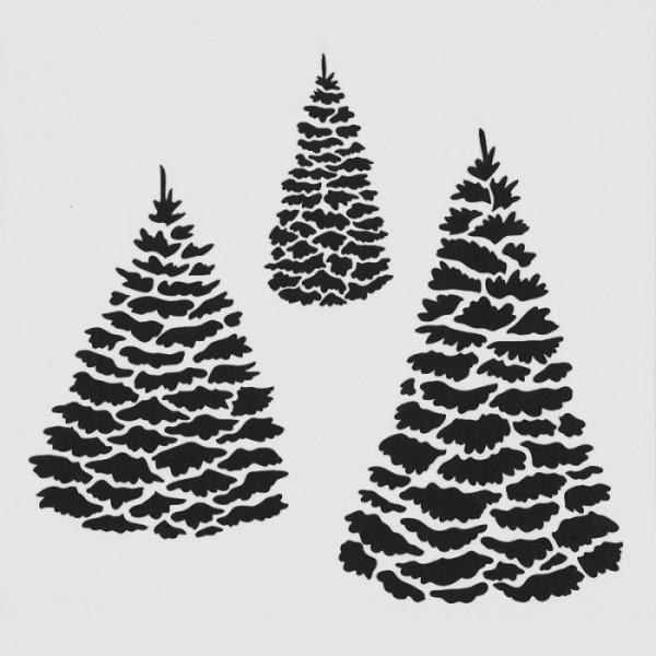 Evergreen Stencil Tasarımı 30 x 30 cm