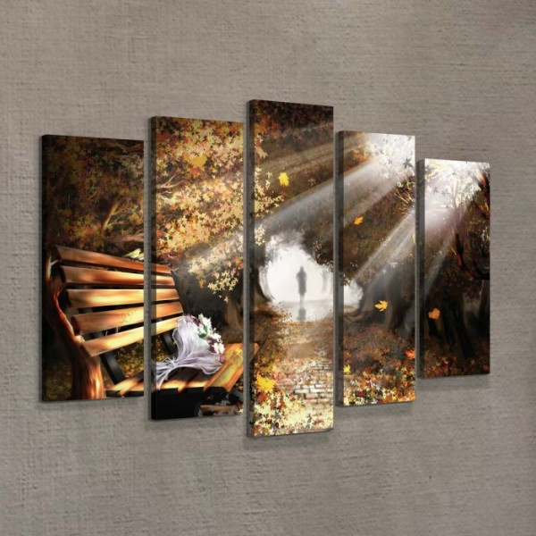Eylül 95x70 cm 5 parça Kanvas Tablo