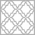 Fas Deseni Stencil Tasarımı 30 x 30 cm