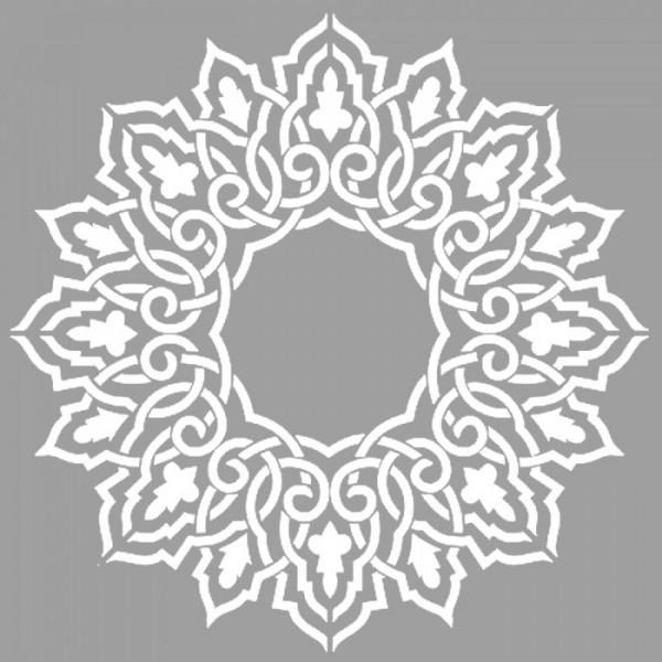 Fas Mandala Stencil Tasarımı 30 x 30 cm