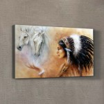 Feather 70x40 cm Kanvas Tablo