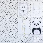 Fırça Darbeleri Stencil Tasarımı 30 x 30 cm