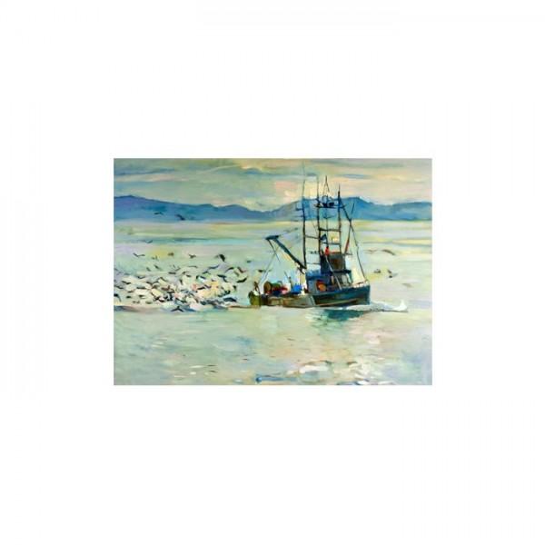 Fisherman-2 Kanvas Tablo 50X70 Cm