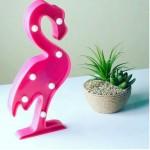 Flamingo Ledli Dekoratif Masa ve Duvar Lambası