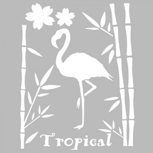 Flamingo Panel Stencil Tasarımı 30 x 30 cm