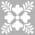 Floral - 2 Stencil Tasarımı 30 x 30 cm