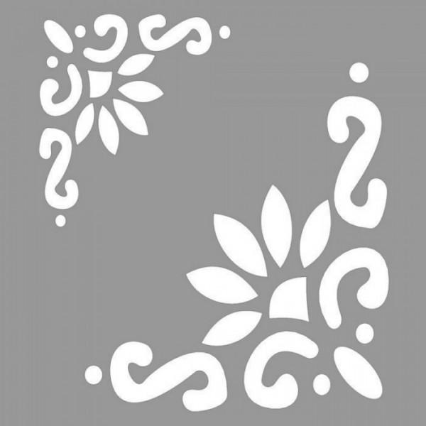 Floral Beverly Stencil Tasarımı 30 x 30 cm