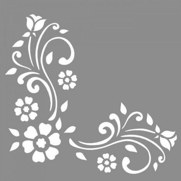 Floral Connie Stencil Tasarımı 30 x 30 cm