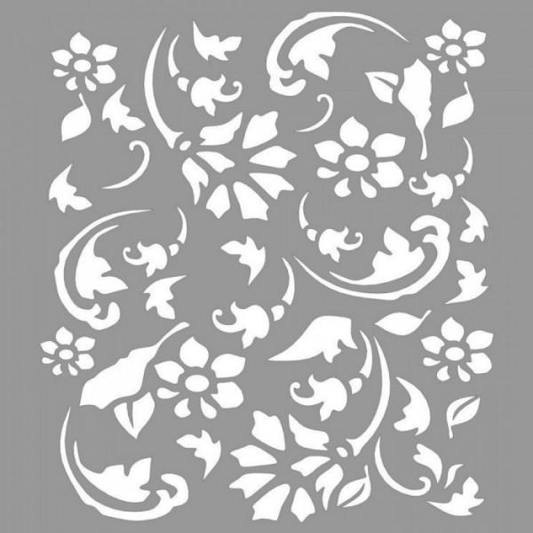 Floral Denise Stencil Tasarımı 30 x 30 cm