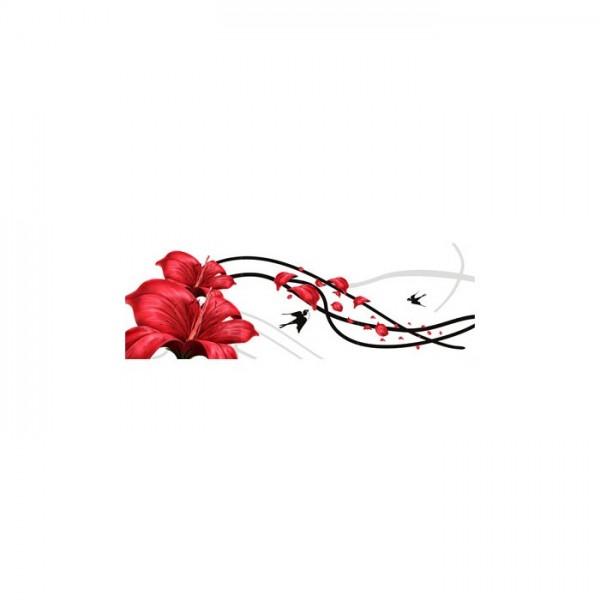 Floral Effect 3 Parça Kanvas Tablo 40X120 Cm