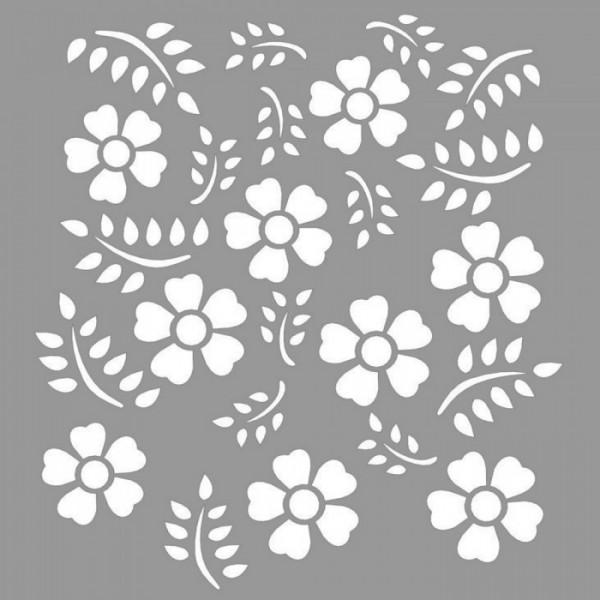 Floral Janice Stencil Tasarımı 30 x 30 cm