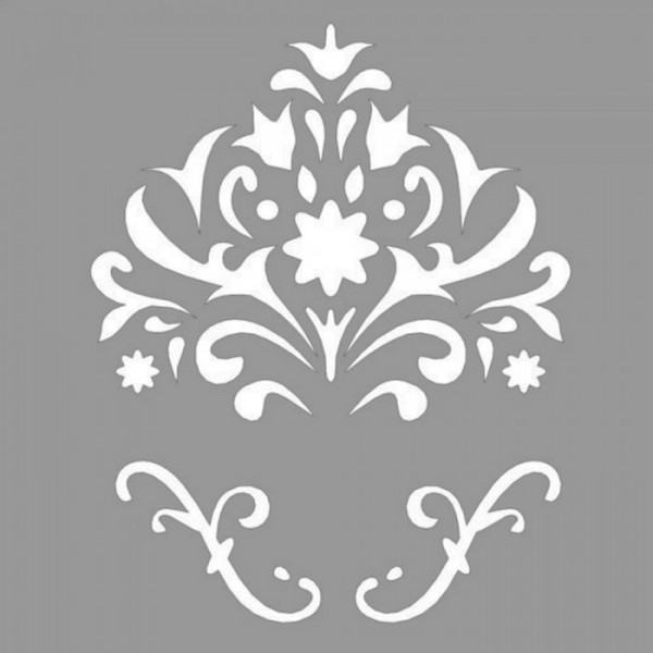 Floral Joyce Stencil Tasarımı 30 x 30 cm