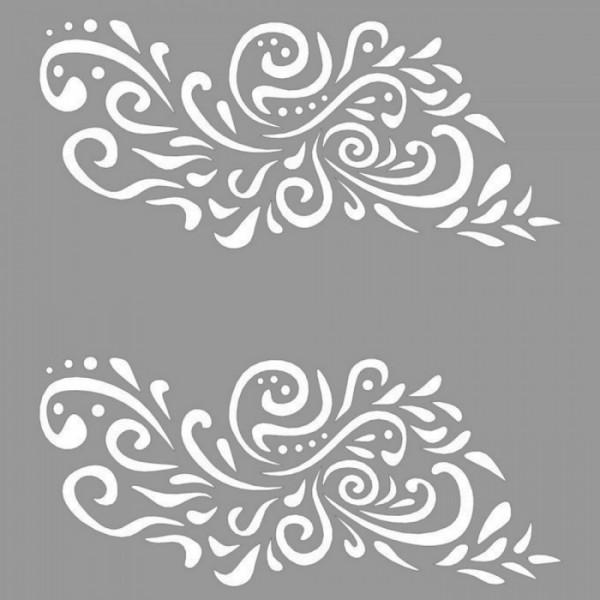 Floral Judy Stencil Tasarımı 30 x 30 cm