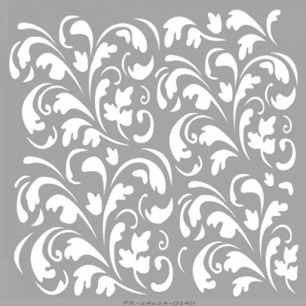 Floral Karo Stencil Tasarımı 30 x 30 cm