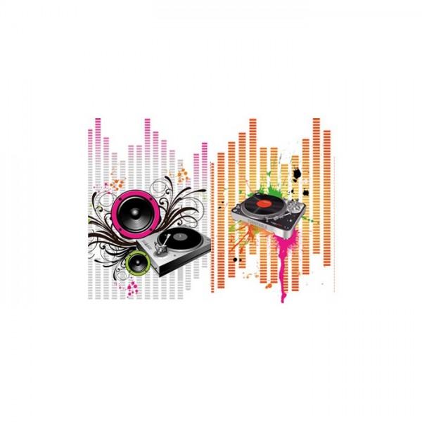 Floral Music 2 Parça Kanvas Tablo 80X100 Cm