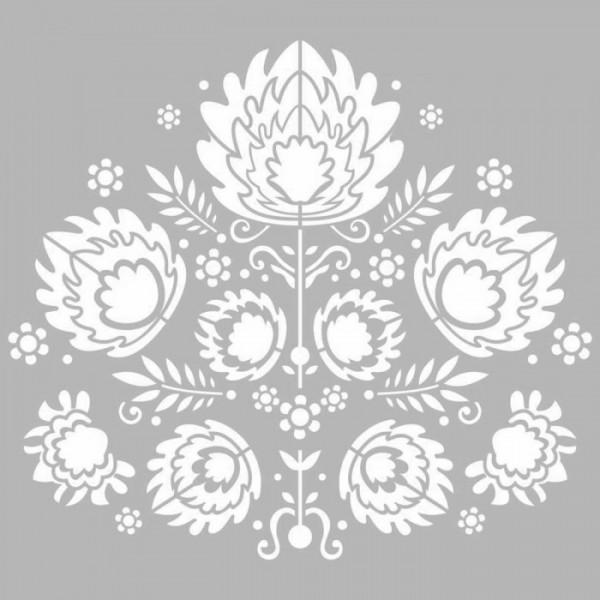 Floral Nakış Motifi Stencil Tasarımı 30 x 30 cm
