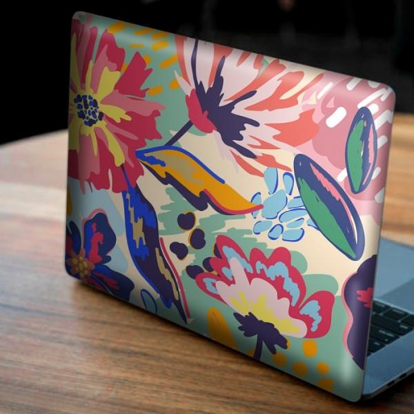 Floral Renkli Desen Notebook Sticker