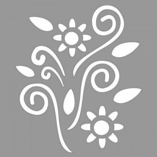 Floral Rouge Stencil Tasarımı 30 x 30 cm