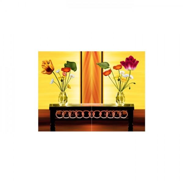 Floral Song 2 Parça Kanvas Tablo 80X100 Cm