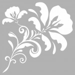 Floral Stencil Tasarımı 30 x 30 cm