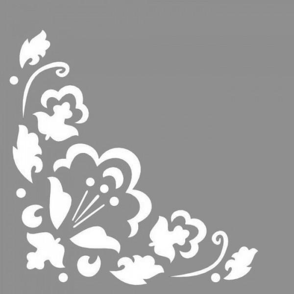 Floral Waltz Stencil Tasarımı 30 x 30 cm