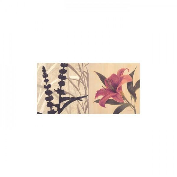 Flower Sound 2 Parça Kanvas Tablo 80X40 Cm