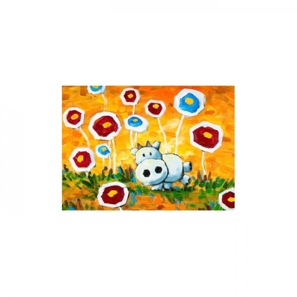 Flying Flowers Kanvas Tablo 50X70 Cm