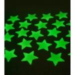 Fosforlu Duvar Sticker Büyük Yıldız 40 Adet