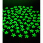 Fosforlu Duvar Sticker Orta Yıldız 80 Adet