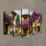 France 95x70 cm Kanvas Tablo