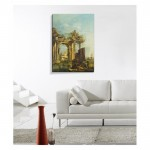 Francesco Guardi - A Caprice with Ruins on the Seashore 50x70 cm