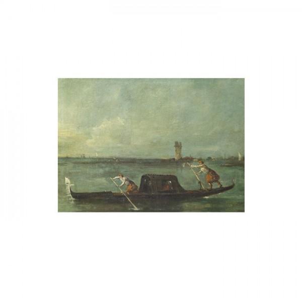 Francesco Guardi - A Gondola on the Lagoon near Mestre 50x70 cm