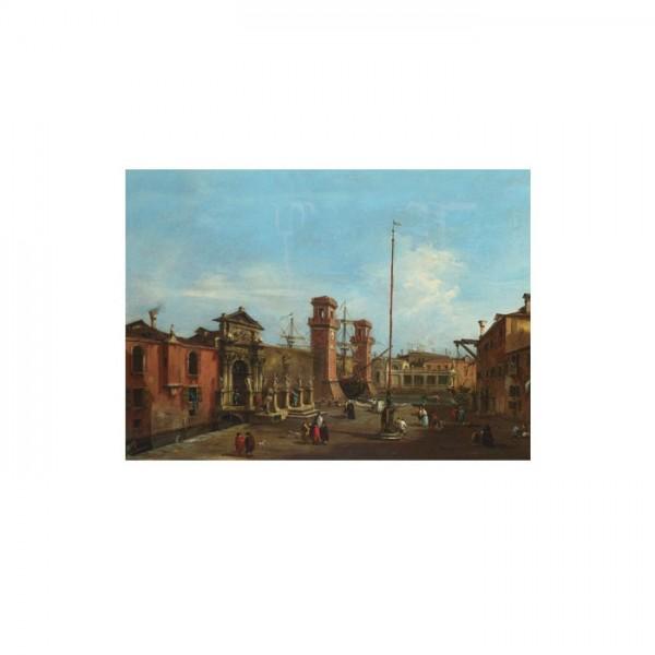 Francesco Guardi - Venice - The Arsenal 50x70 cm